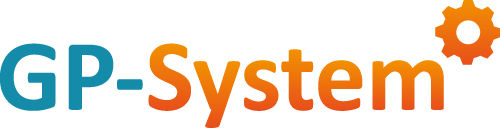 GP-System logo bianco